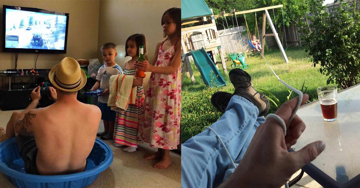 14 Beispiele, warum man Väter mit ihren Kindern nicht alleine lassen sollte