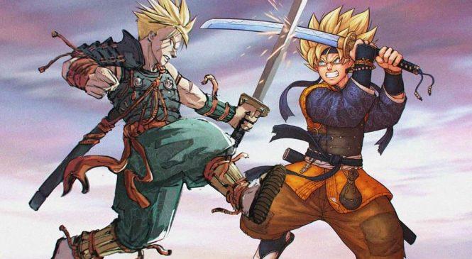 Künstler illustriert Dragonball-Charaktere als Samurai
